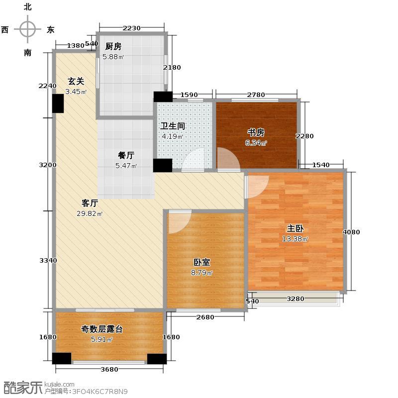 金色时代254.00㎡MY户型5室3厅3卫