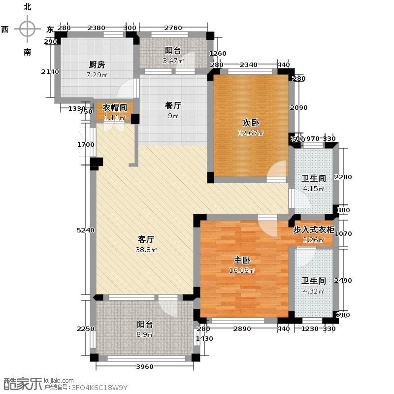 绿城蓝庭111.59㎡地中海洋房A1户型10室
