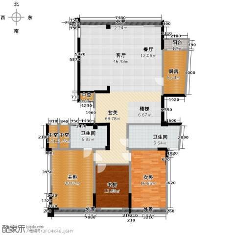 海威国际3室0厅2卫1厨303.00㎡户型图