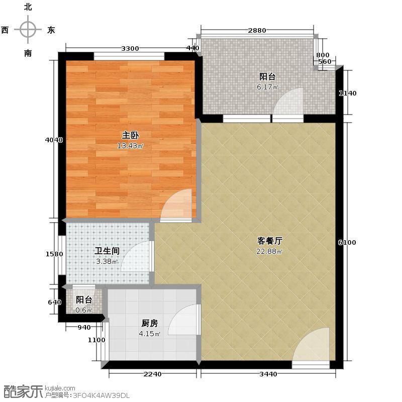 清平乐56.10㎡1-1-1-1户型1室1厅1卫1厨