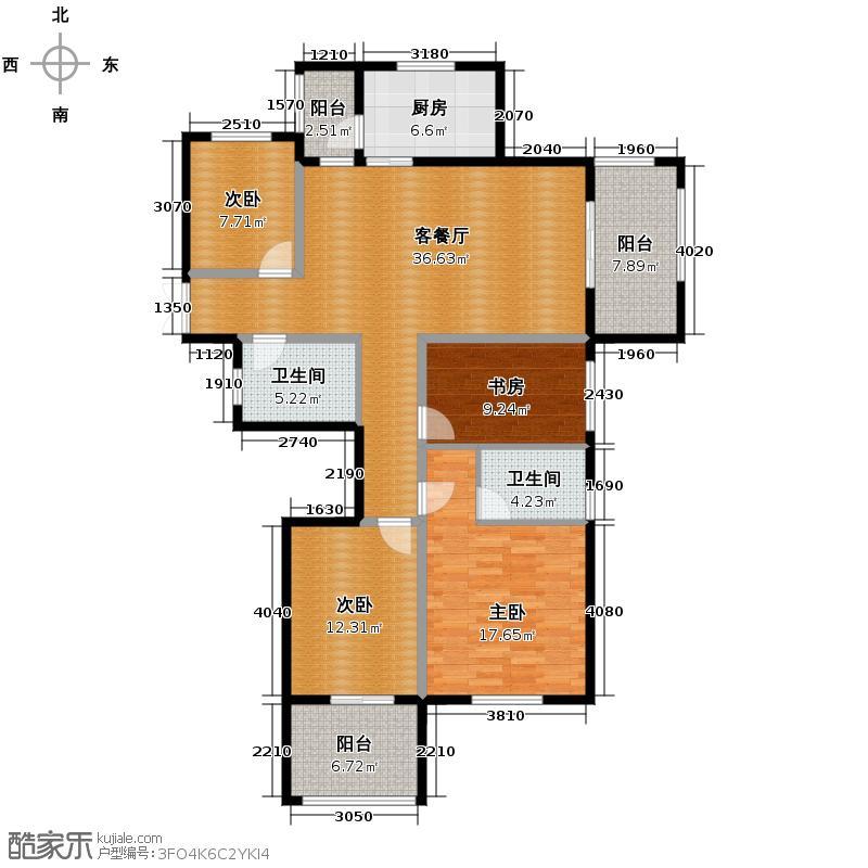 赞成香颂131.31㎡GC-9a型13号楼偶数层平面图户型10室