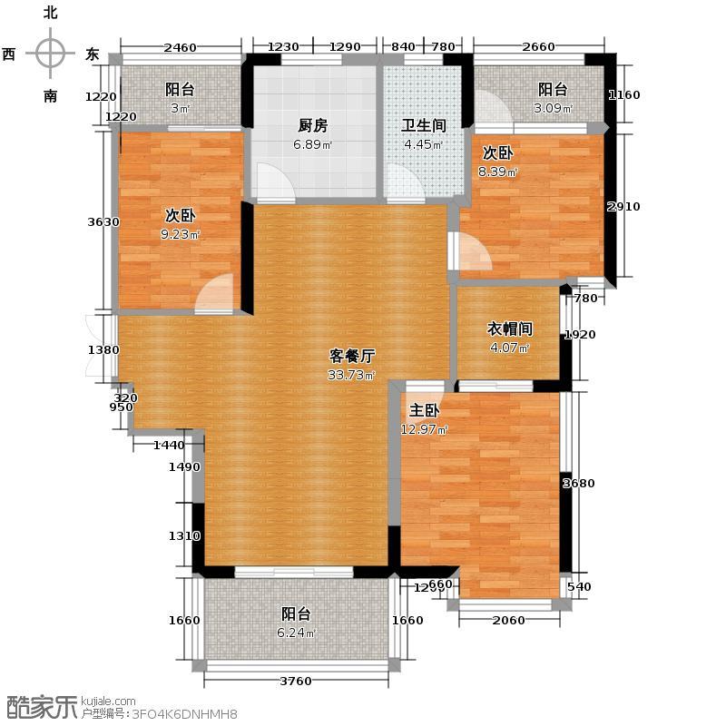 骏景华庭104.21㎡3号楼B2户型10室