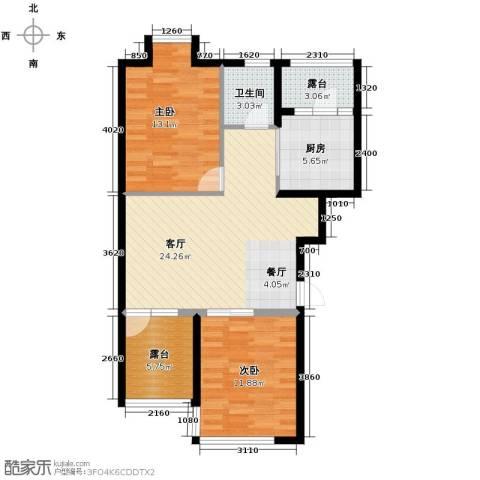 名仕雅居2室2厅1卫0厨92.00㎡户型图