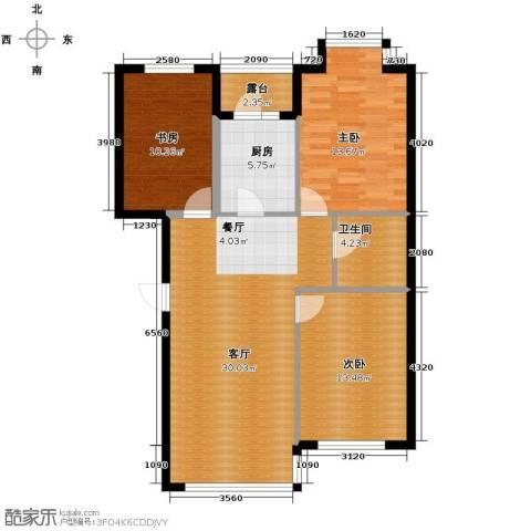 名仕雅居3室2厅1卫0厨109.00㎡户型图