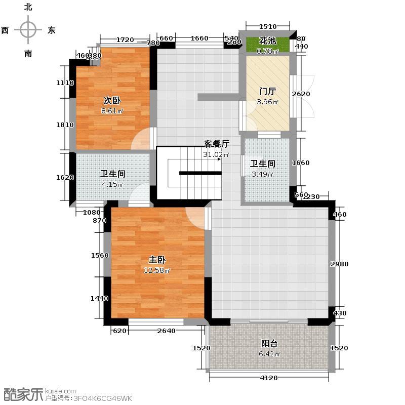 贵研自然界81.52㎡C2-D六层户型10室