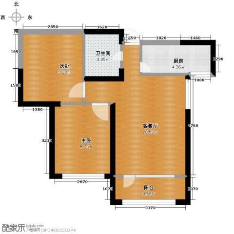 首创光和城2室2厅1卫0厨80.00㎡户型图