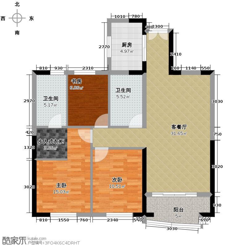 安宁世贸广场96.09㎡户型10室