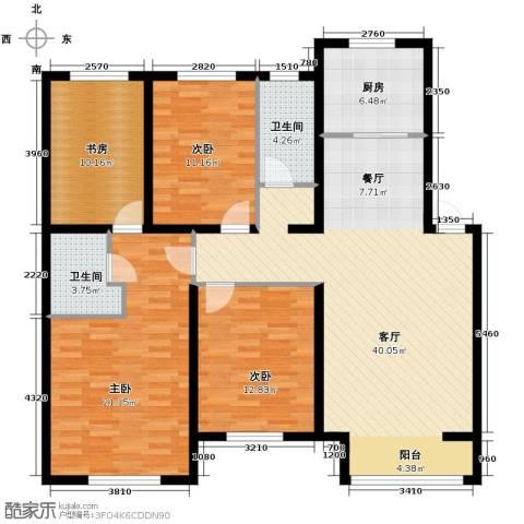 名仕雅居4室2厅2卫0厨139.00㎡户型图