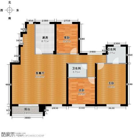 江户雅致3室2厅2卫0厨142.00㎡户型图