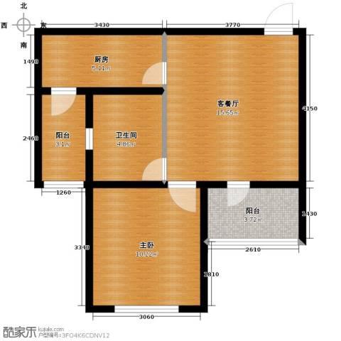 首创光和城1室2厅1卫0厨59.00㎡户型图