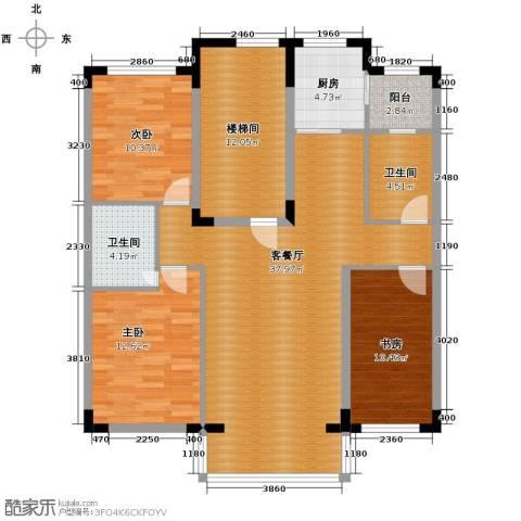 泰莱香榭里3室1厅2卫1厨118.00㎡户型图