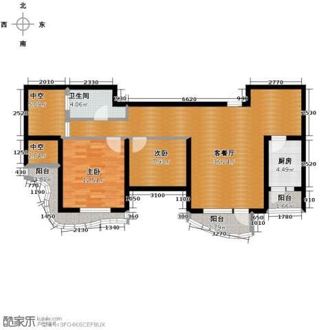 名流公馆2室2厅1卫0厨108.00㎡户型图