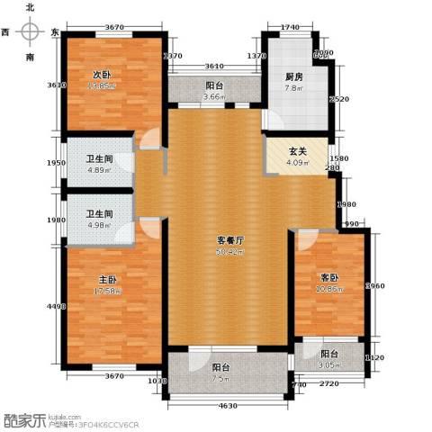 江户雅致3室2厅2卫0厨148.00㎡户型图