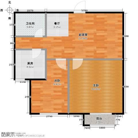 SR国际新城2室0厅1卫1厨79.00㎡户型图