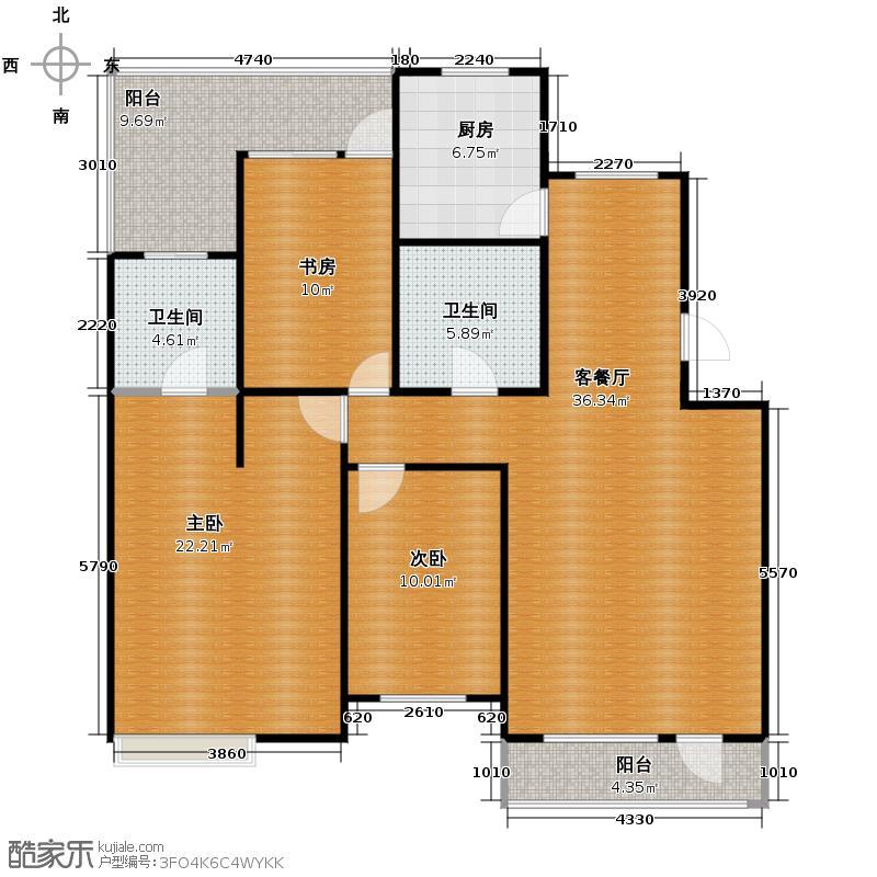 博荣水立方118.13㎡户型10室
