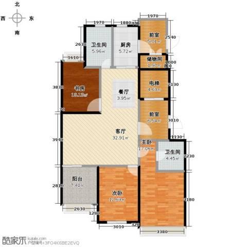 青鸟中山华府3室2厅2卫0厨126.00㎡户型图