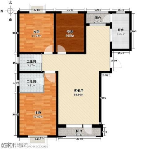 伯爵源筑3室2厅2卫0厨117.00㎡户型图