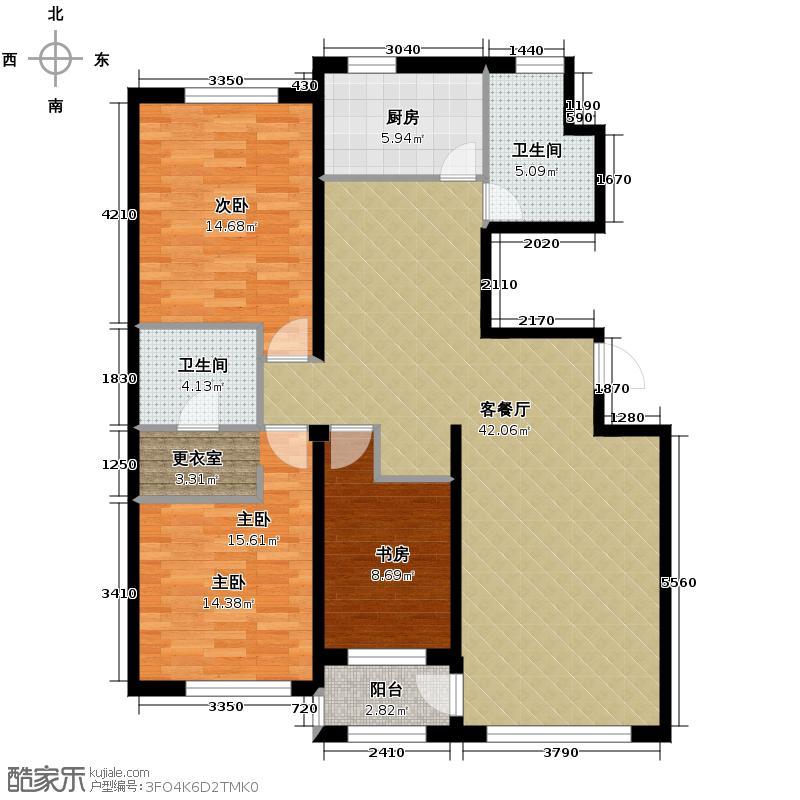 亚泰梧桐公馆130.00㎡标准大户型3室1厅2卫1厨