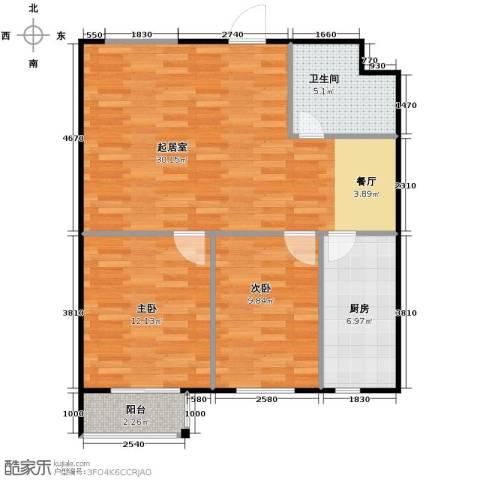 SR国际新城2室0厅1卫1厨91.00㎡户型图