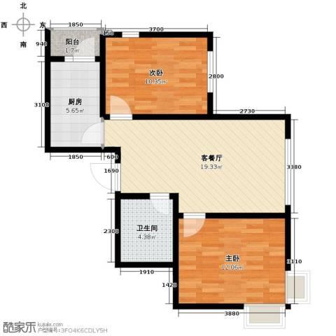 汇水湾2室2厅1卫0厨75.00㎡户型图