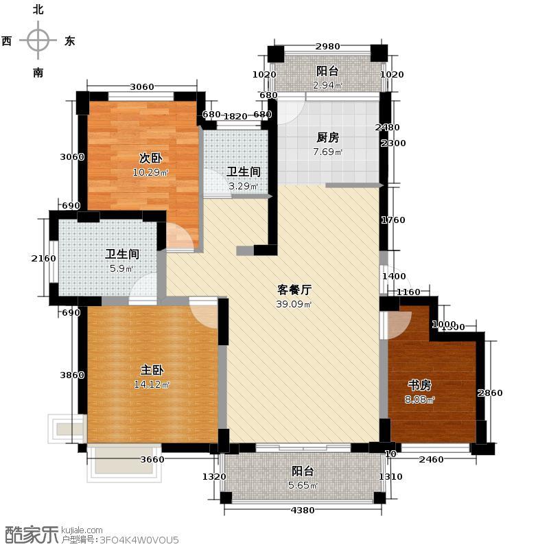 南城景园113.14㎡D-a户型3室1厅2卫