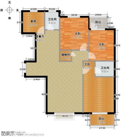 北郡帕提欧3室2厅2卫0厨130.00㎡户型图