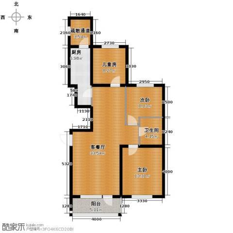 格林馨港湾3室2厅1卫0厨114.00㎡户型图