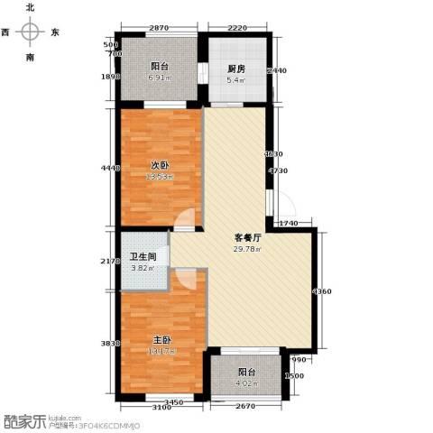 世纪枫景汇2室2厅1卫0厨87.00㎡户型图