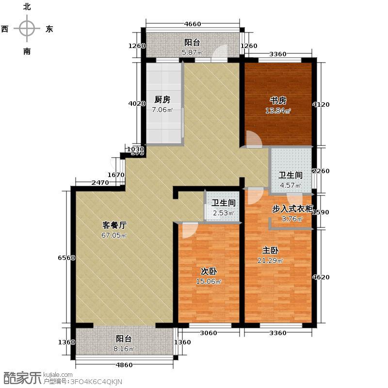 泰鑫国典129.12㎡户型3室2厅2卫