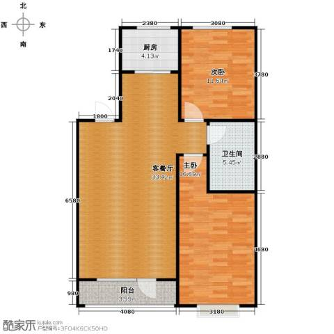惠盛苑2室1厅1卫1厨101.00㎡户型图