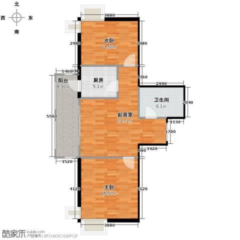 华风海城湾2室0厅1卫1厨68.80㎡户型图