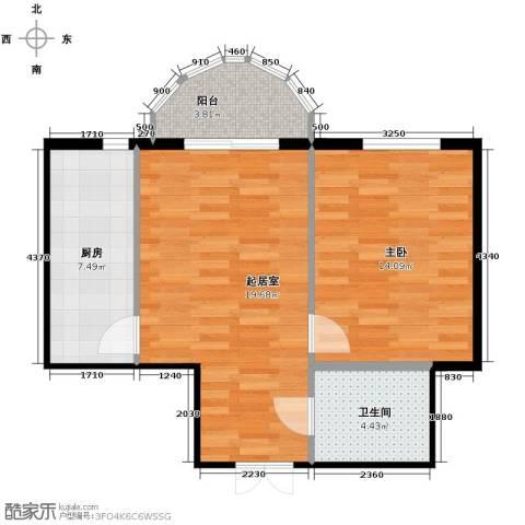 华风海城湾1室0厅1卫1厨49.50㎡户型图
