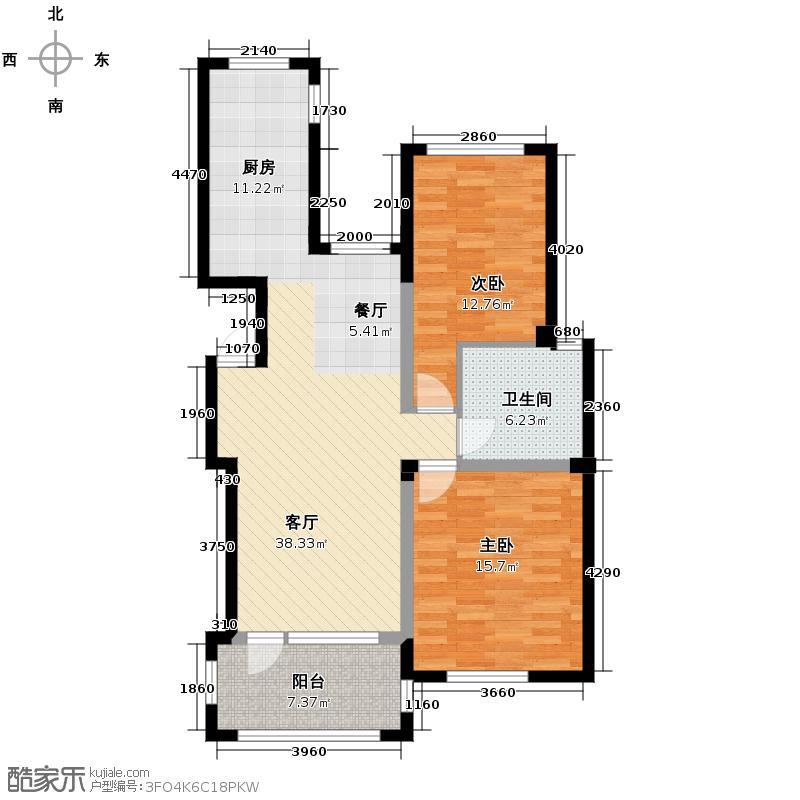绿城蓝庭91.02㎡B户型10室