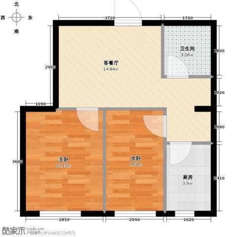 世纪枫景汇2室1厅1卫0厨59.00㎡户型图