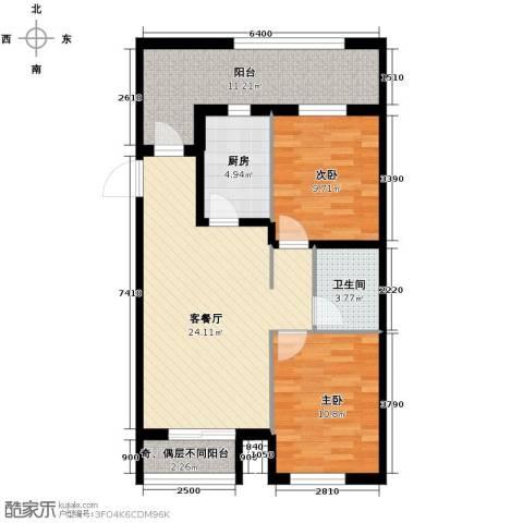 世纪枫景汇2室2厅1卫0厨79.00㎡户型图