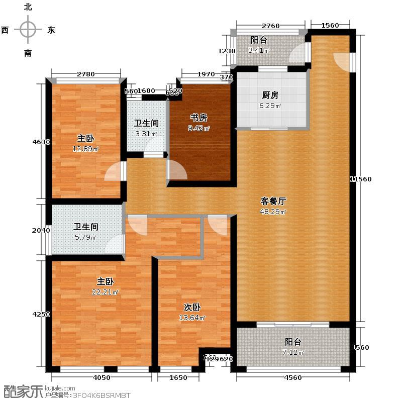 万科缤纷四季154.00㎡22号楼01户型4室1厅2卫1厨