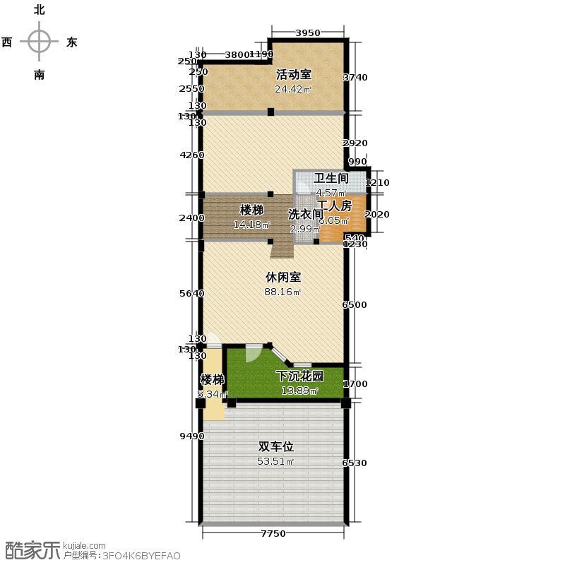 金都夏宫400.00㎡四联8#房号4-1户型10室
