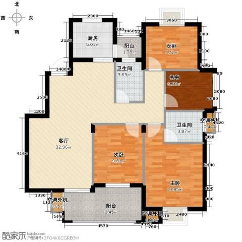 小骆花园4室1厅2卫1厨135.00㎡户型图