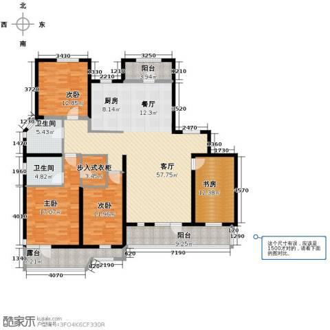 名流公馆4室2厅2卫0厨146.11㎡户型图