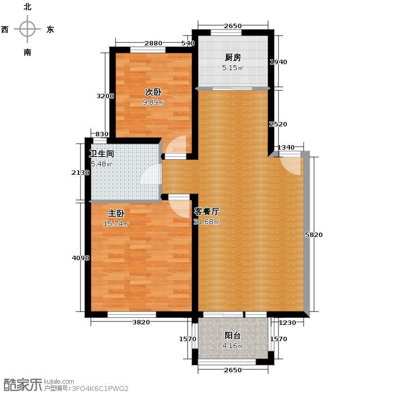 绿城紫桂公寓80.82㎡户型10室