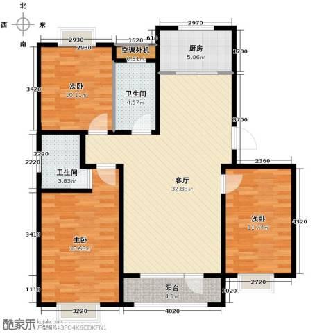 城建南郡3室2厅2卫0厨110.00㎡户型图