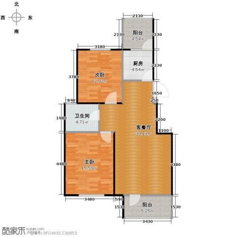 江户雅致2室2厅1卫0厨89.00㎡户型图