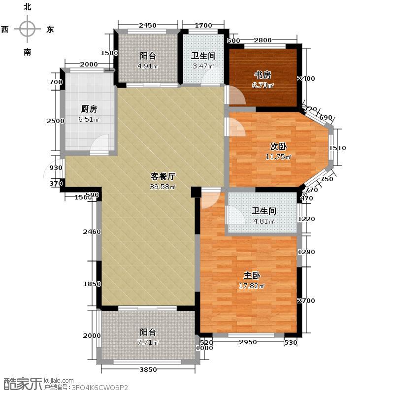 圣联梦溪小镇133.00㎡7#0户型3室2厅2卫