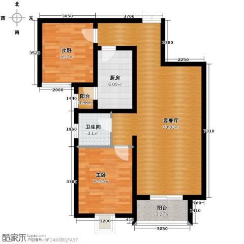 北郡帕提欧2室2厅2卫0厨94.00㎡户型图