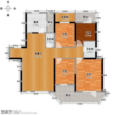 名流公馆4室2厅1卫0厨131.00㎡户型图