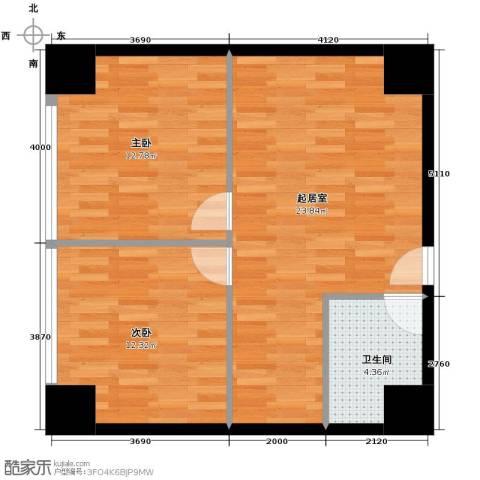中华城2室0厅1卫0厨95.00㎡户型图