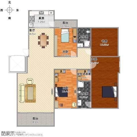 南郡天下4室1厅2卫1厨163.00㎡户型图