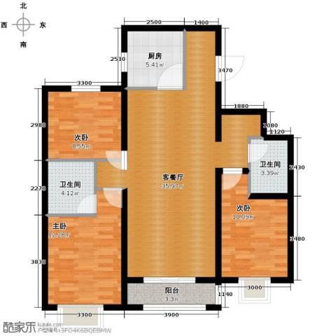 北郡帕提欧2室2厅2卫0厨118.00㎡户型图