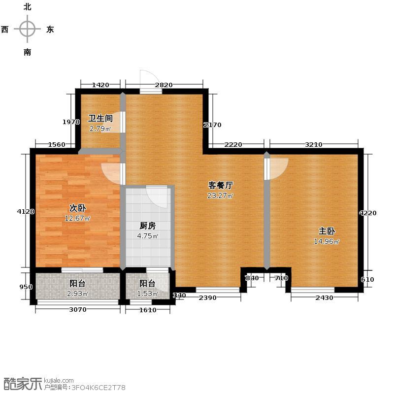亿丰南奥国际82.50㎡户型10室