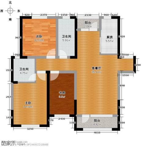 首创光和城3室2厅2卫0厨125.00㎡户型图
